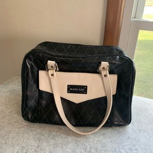 Mary Kay Black & Cream Quilted Duffle Tote Bag